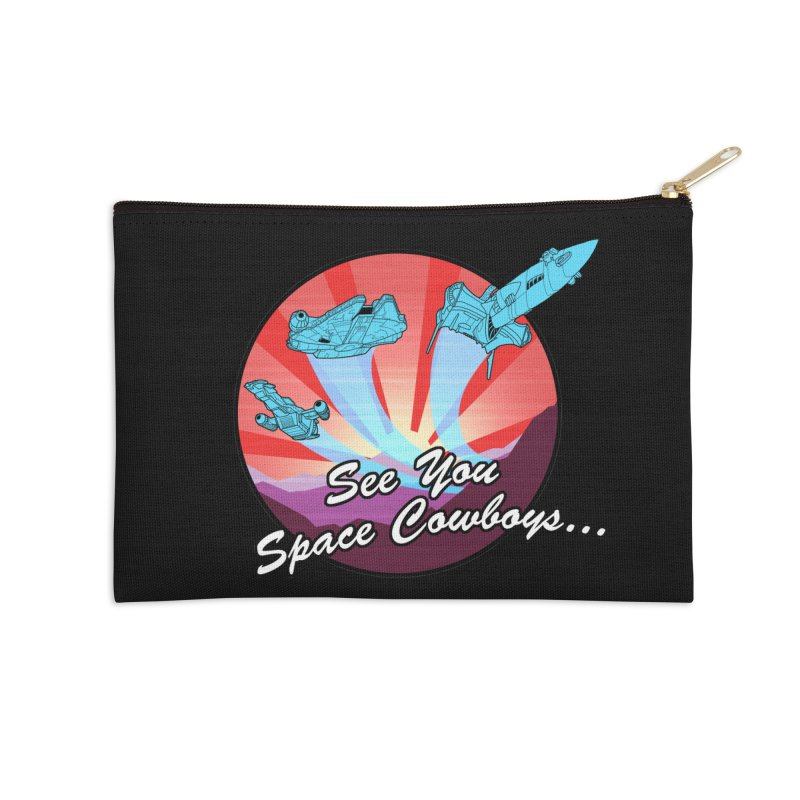 Space Cowboys Accessories Zip Pouch by ArtByDanger's Artist Shop