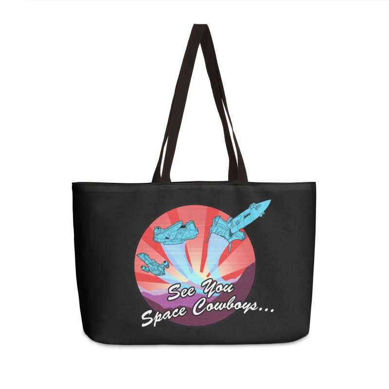 Space Cowboys Accessories Weekender Bag Bag by ArtByDanger's Artist Shop