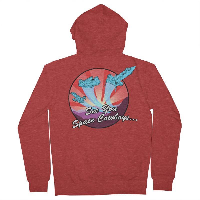 Space Cowboys Men's French Terry Zip-Up Hoody by ArtByDanger's Artist Shop