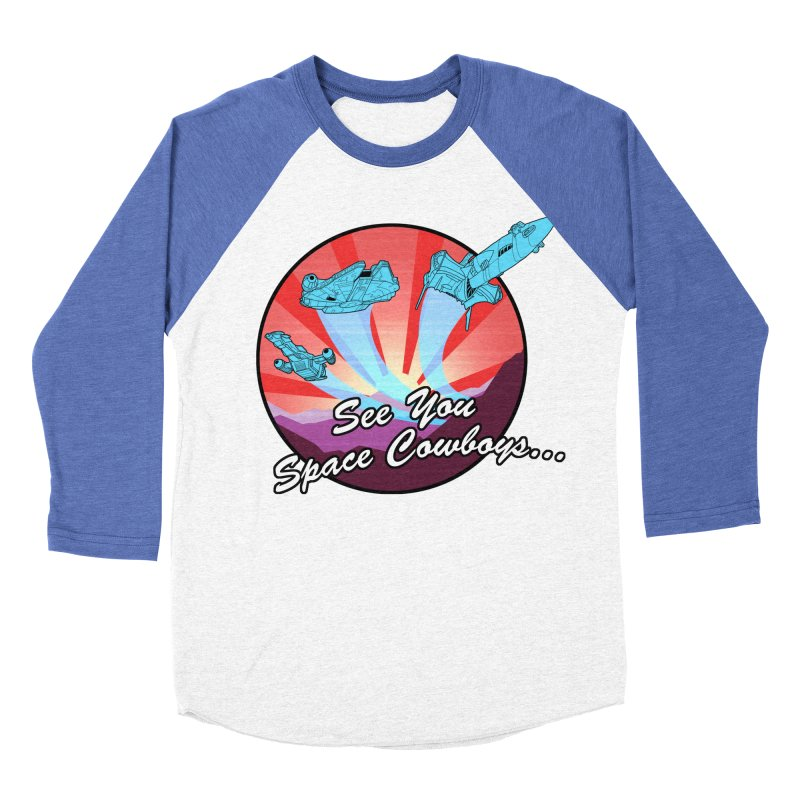 Space Cowboys Men's Baseball Triblend Longsleeve T-Shirt by ArtByDanger's Artist Shop