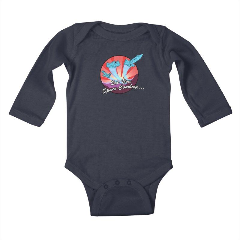 Space Cowboys Kids Baby Longsleeve Bodysuit by ArtByDanger's Artist Shop