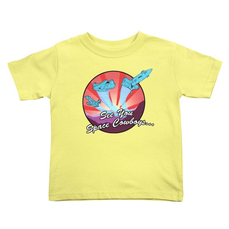 Space Cowboys Kids Toddler T-Shirt by ArtByDanger's Artist Shop