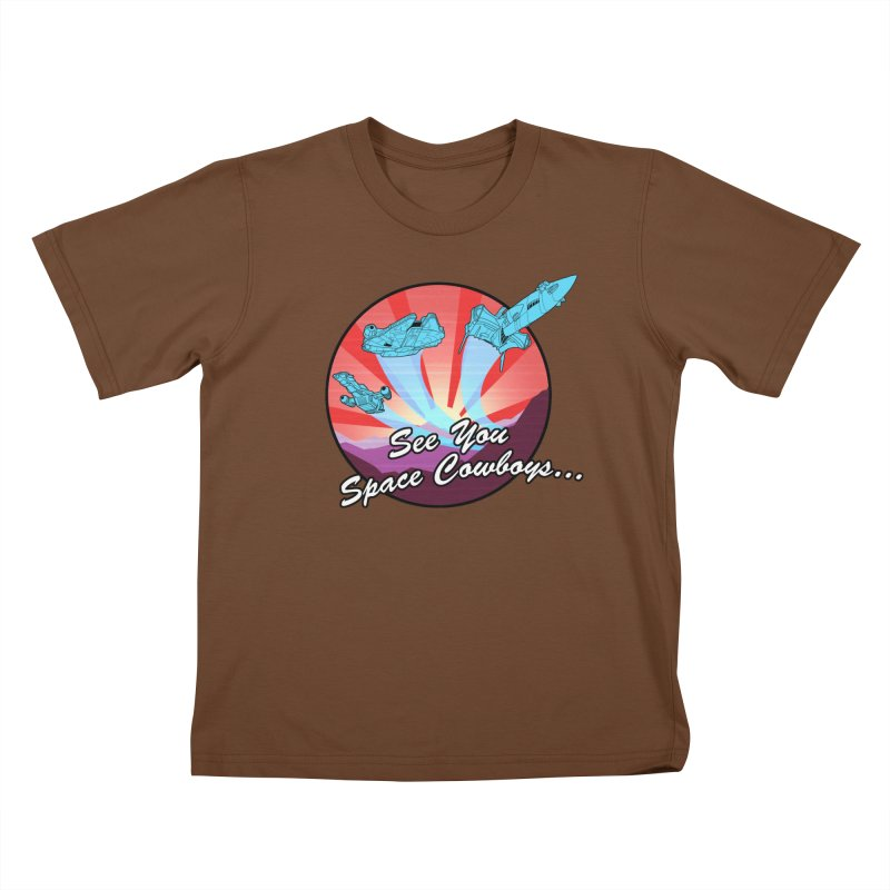Space Cowboys Kids T-Shirt by ArtByDanger's Artist Shop