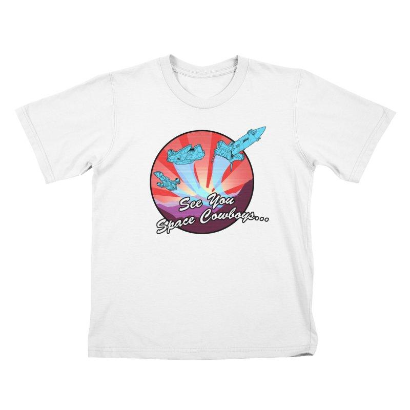 Space Cowboys Kids T-Shirt by ArtByDanger's Artist Shop