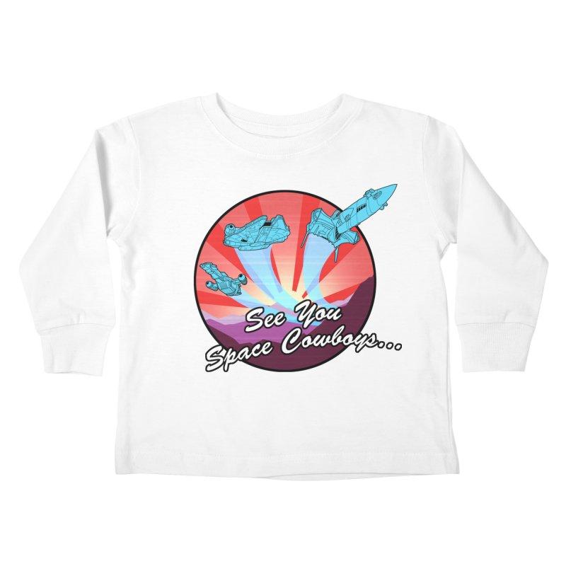 Space Cowboys Kids Toddler Longsleeve T-Shirt by ArtByDanger's Artist Shop