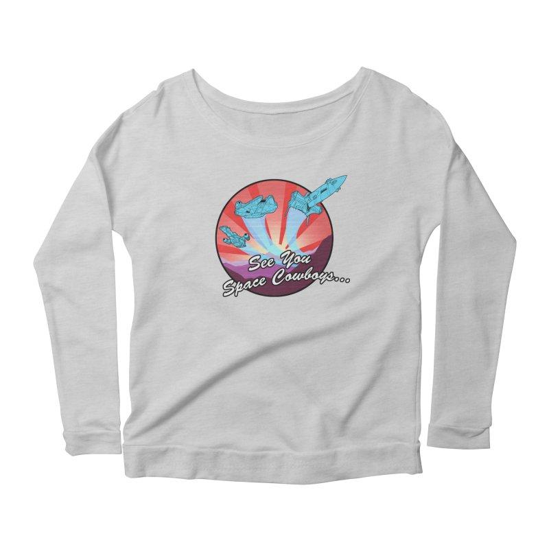 Space Cowboys Women's Scoop Neck Longsleeve T-Shirt by ArtByDanger's Artist Shop