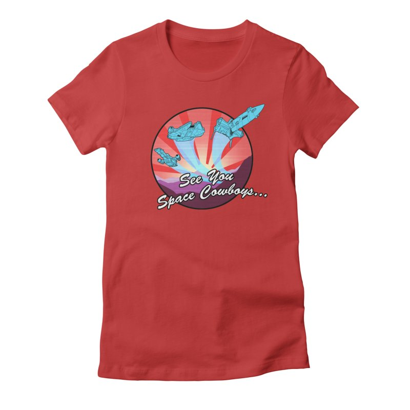 Space Cowboys Women's Fitted T-Shirt by ArtByDanger's Artist Shop