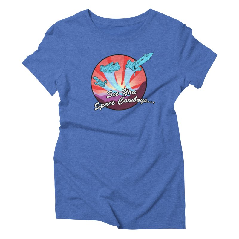 Space Cowboys Women's Triblend T-Shirt by ArtByDanger's Artist Shop