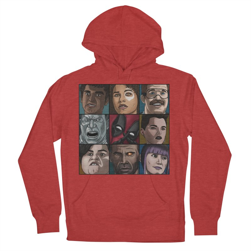 X FORCE Women's French Terry Pullover Hoody by ArtByDanger's Artist Shop