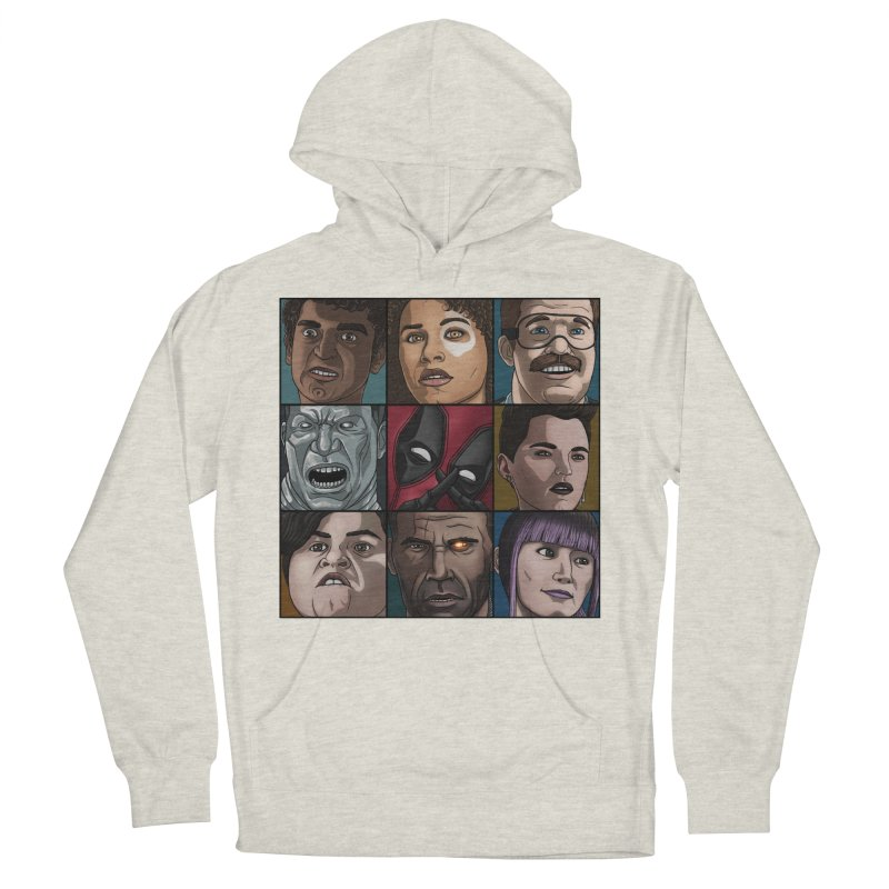 X FORCE Men's French Terry Pullover Hoody by ArtByDanger's Artist Shop
