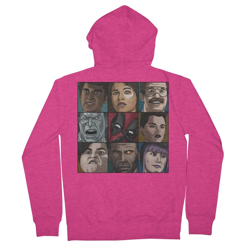 X FORCE Women's French Terry Zip-Up Hoody by ArtByDanger's Artist Shop