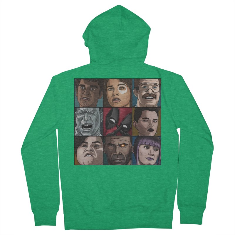 X FORCE Men's French Terry Zip-Up Hoody by ArtByDanger's Artist Shop