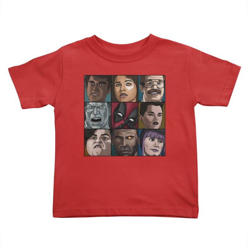 X FORCE Kids Toddler T-Shirt by ArtByDanger's Artist Shop