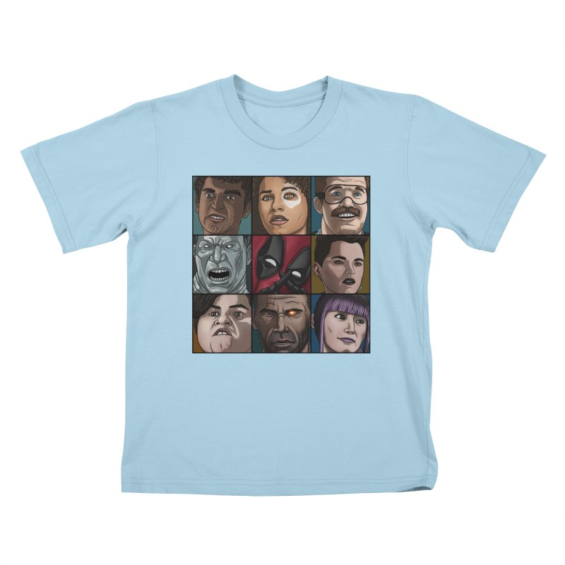 X FORCE Kids T-Shirt by ArtByDanger's Artist Shop