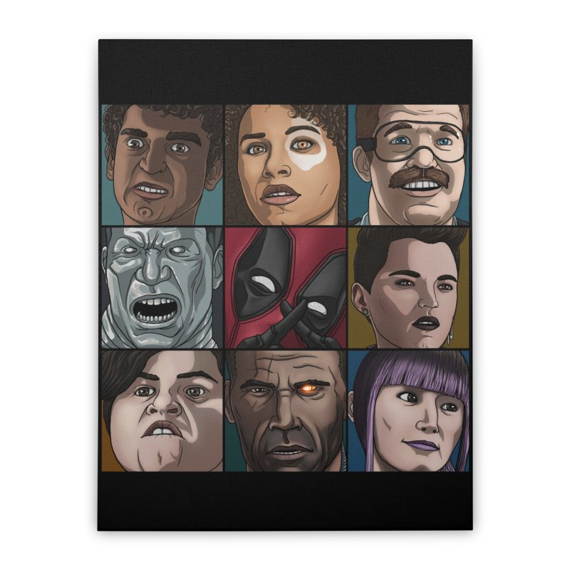 X FORCE Home Stretched Canvas by ArtByDanger's Artist Shop