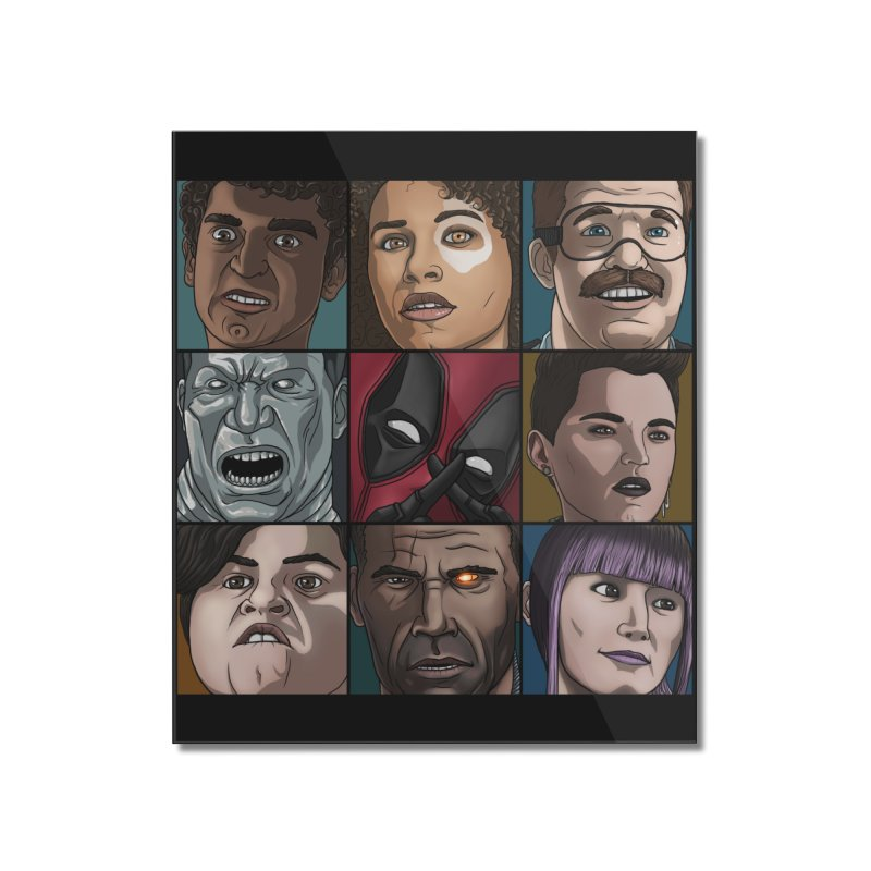 X FORCE Home Mounted Acrylic Print by ArtByDanger's Artist Shop