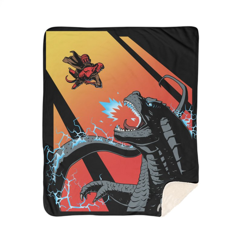 Hero Monster Battle Home Sherpa Blanket Blanket by ArtByDanger's Artist Shop