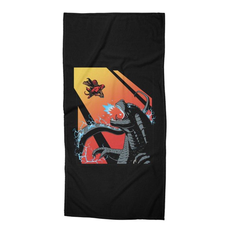 Hero Monster Battle Accessories Beach Towel by ArtByDanger's Artist Shop