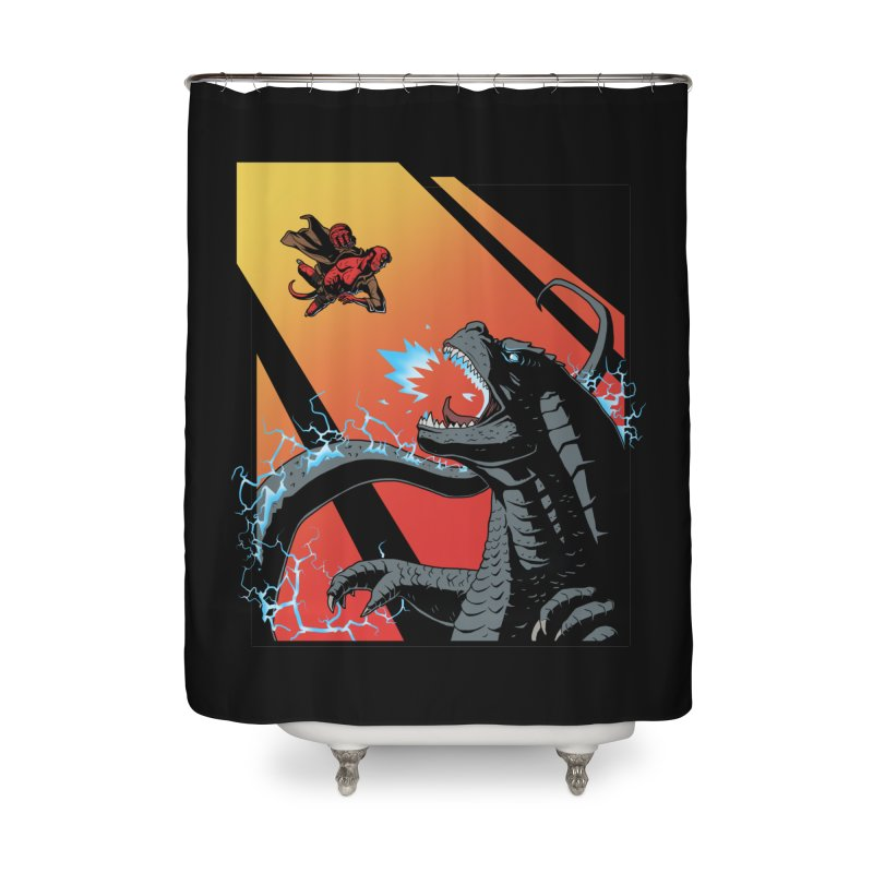 Hero Monster Battle Home Shower Curtain by ArtByDanger's Artist Shop