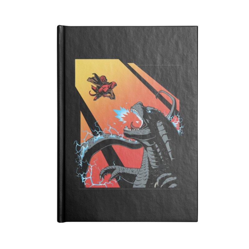 Hero Monster Battle Accessories Lined Journal Notebook by ArtByDanger's Artist Shop