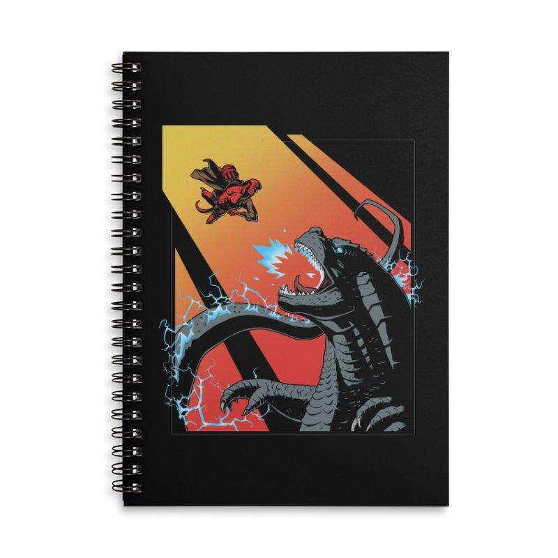 Hero Monster Battle Accessories Lined Spiral Notebook by ArtByDanger's Artist Shop