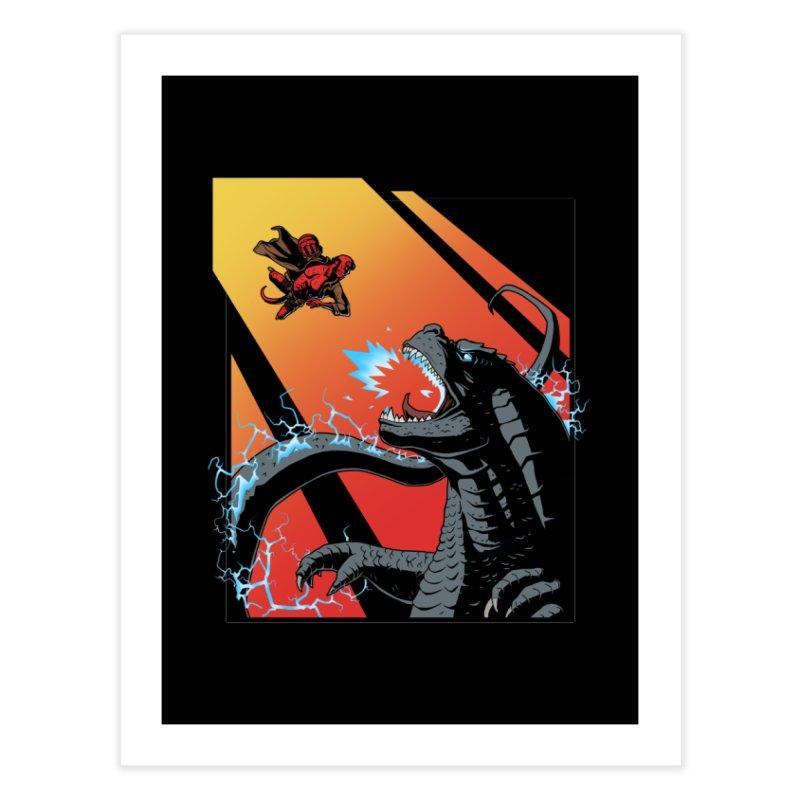 Hero Monster Battle Home Fine Art Print by ArtByDanger's Artist Shop