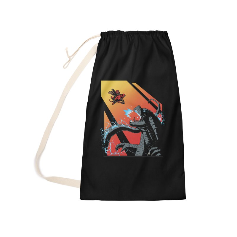 Hero Monster Battle Accessories Laundry Bag Bag by ArtByDanger's Artist Shop