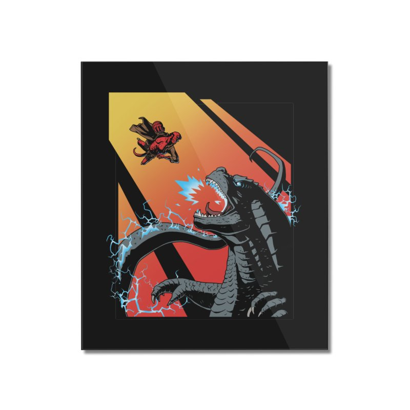 Hero Monster Battle Home Mounted Acrylic Print by ArtByDanger's Artist Shop