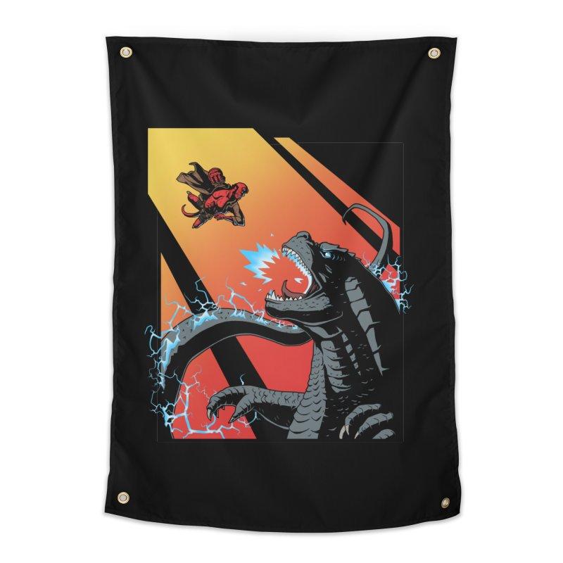 Hero Monster Battle Home Tapestry by ArtByDanger's Artist Shop