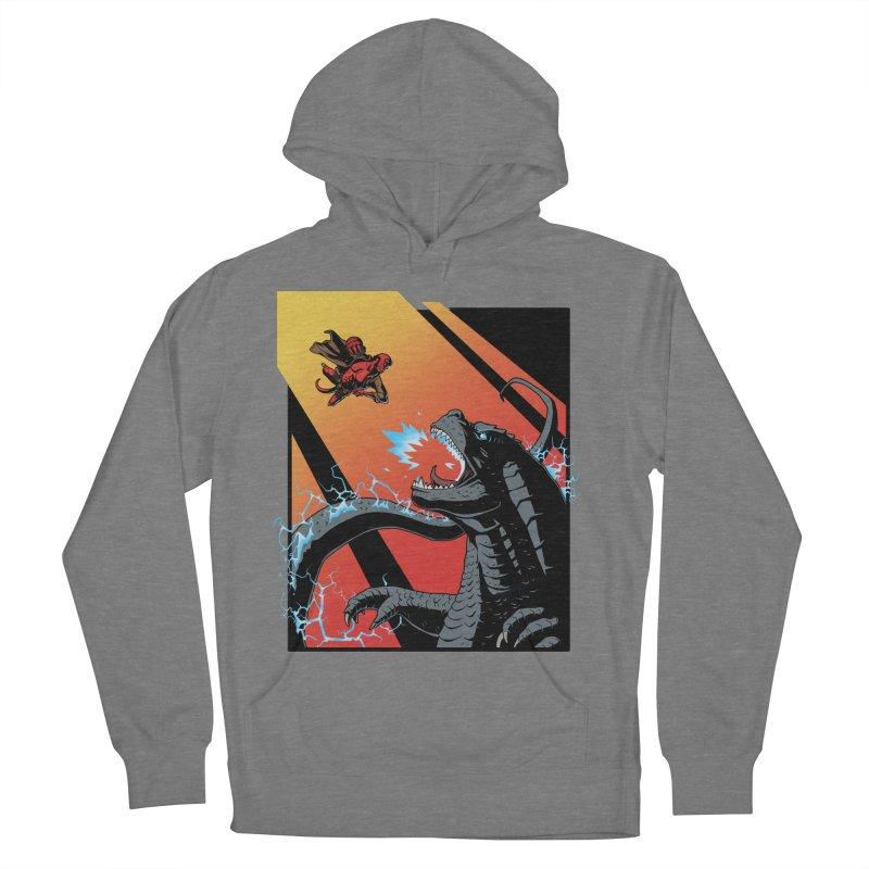 Hero Monster Battle Men's French Terry Pullover Hoody by ArtByDanger's Artist Shop