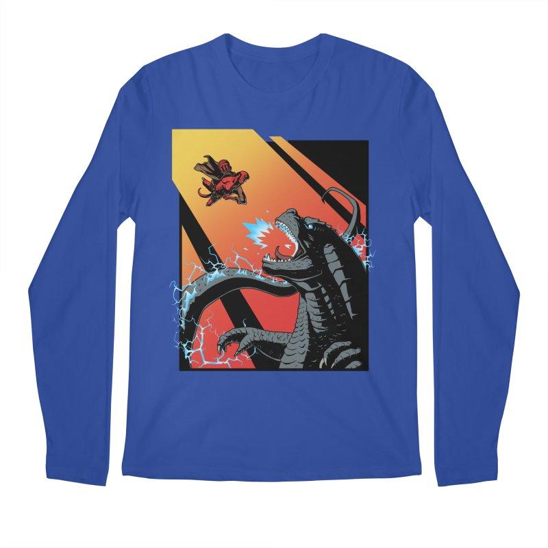 Hero Monster Battle Men's Regular Longsleeve T-Shirt by ArtByDanger's Artist Shop