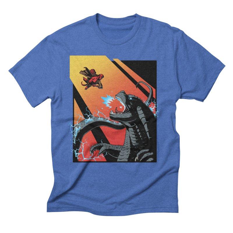 Hero Monster Battle Men's Triblend T-Shirt by ArtByDanger's Artist Shop