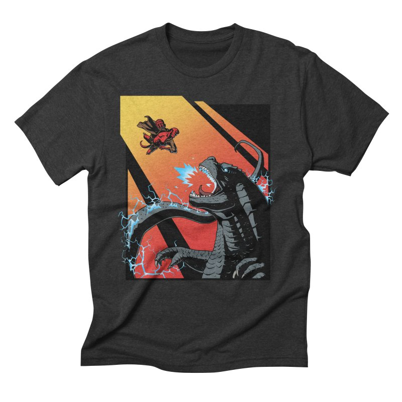 Hero Monster Battle Men's Triblend T-Shirt by ArtByDanger's Artist Shop