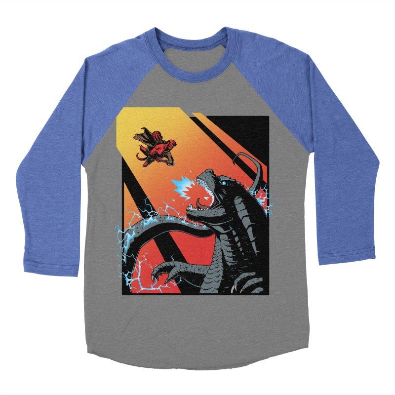 Hero Monster Battle Women's Baseball Triblend Longsleeve T-Shirt by ArtByDanger's Artist Shop