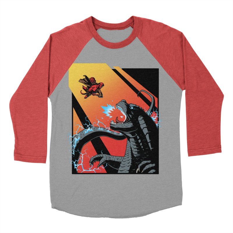 Hero Monster Battle Men's Baseball Triblend Longsleeve T-Shirt by ArtByDanger's Artist Shop