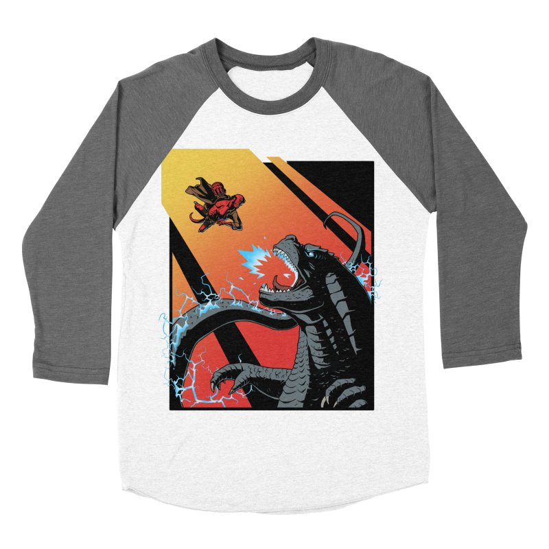 Hero Monster Battle Men's Baseball Triblend Longsleeve T-Shirt by ArtByDanger's Artist Shop