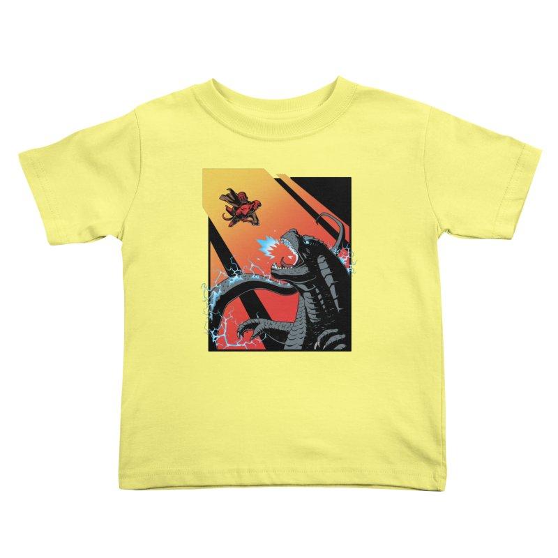 Hero Monster Battle Kids Toddler T-Shirt by ArtByDanger's Artist Shop