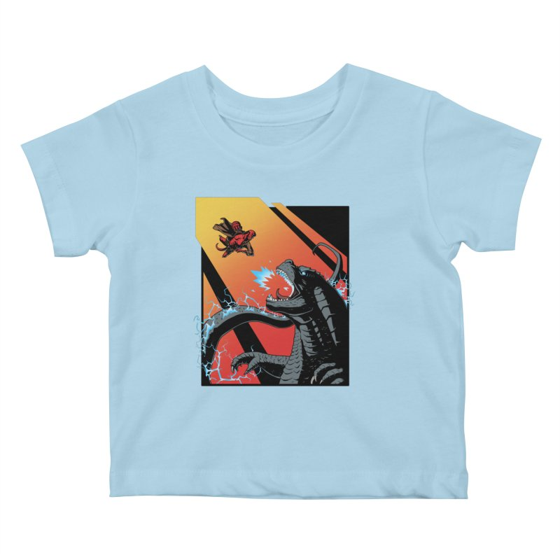 Hero Monster Battle Kids Baby T-Shirt by ArtByDanger's Artist Shop