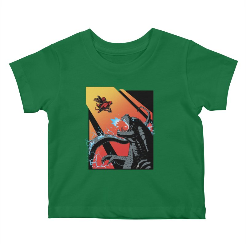 Hero Monster Battle Kids Baby T-Shirt by ArtByDanger's Artist Shop