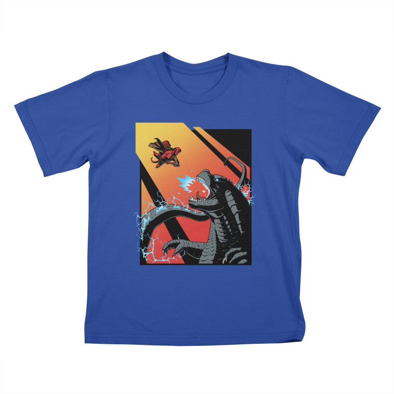 Hero Monster Battle Kids T-Shirt by ArtByDanger's Artist Shop