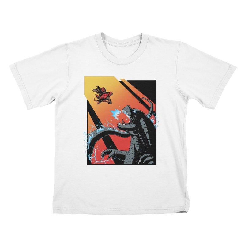 Hero Monster Battle Kids T-Shirt by ArtByDanger's Artist Shop