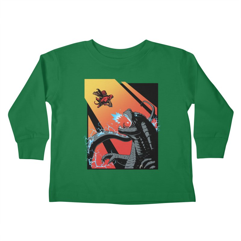 Hero Monster Battle Kids Toddler Longsleeve T-Shirt by ArtByDanger's Artist Shop