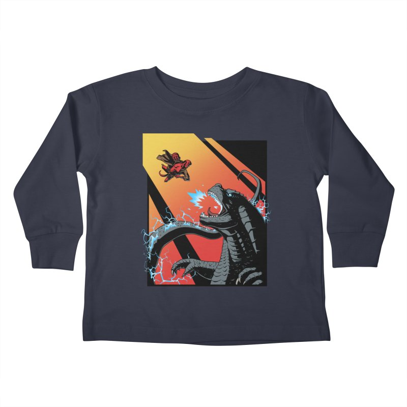 Hero Monster Battle Kids Toddler Longsleeve T-Shirt by ArtByDanger's Artist Shop