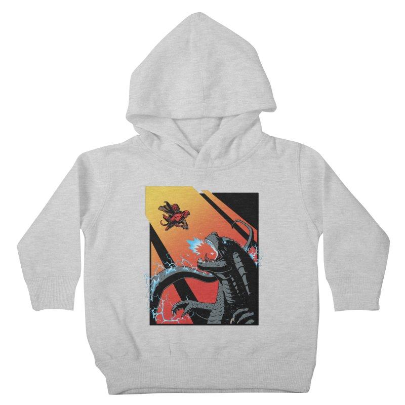 Hero Monster Battle Kids Toddler Pullover Hoody by ArtByDanger's Artist Shop