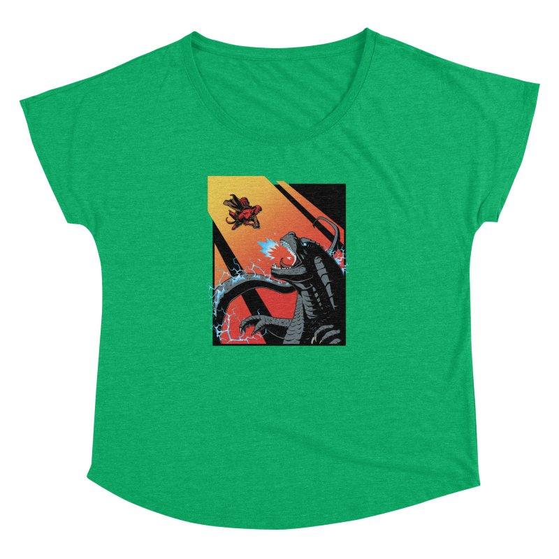Hero Monster Battle Women's Dolman Scoop Neck by ArtByDanger's Artist Shop