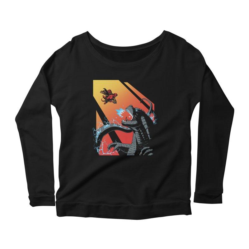 Hero Monster Battle Women's Scoop Neck Longsleeve T-Shirt by ArtByDanger's Artist Shop