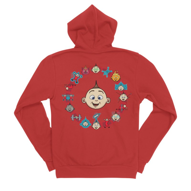The Incredible Jack Jack Men's Sponge Fleece Zip-Up Hoody by ArtByDanger's Artist Shop