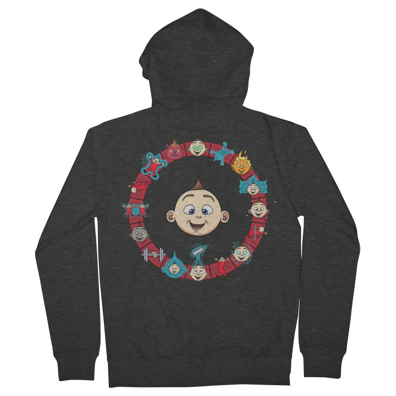The Incredible Jack Jack Men's French Terry Zip-Up Hoody by ArtByDanger's Artist Shop