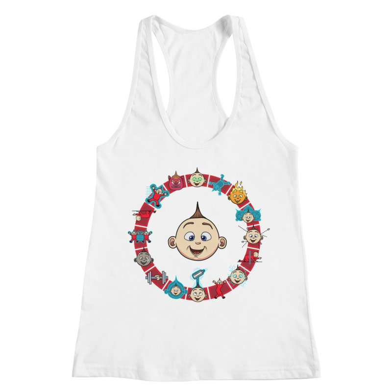 The Incredible Jack Jack Women's Racerback Tank by ArtByDanger's Artist Shop
