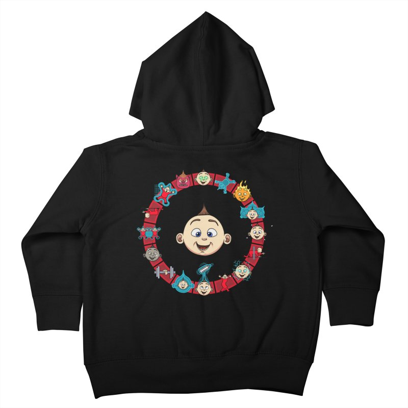 The Incredible Jack Jack Kids Toddler Zip-Up Hoody by ArtByDanger's Artist Shop